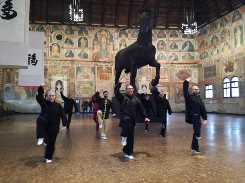 Esibizione a Palazzo della Ragione - Padova