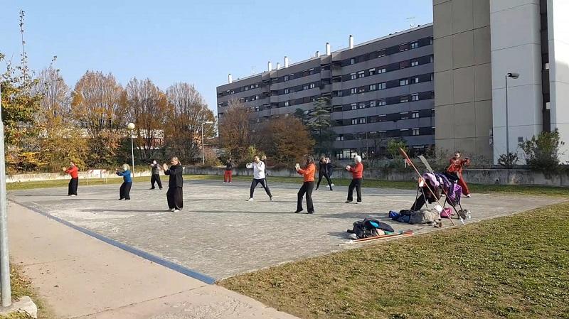 allenamento all'aperto a Vicenza
