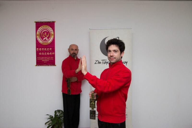 Corrain e Greggio con le medaglie di Wudebei